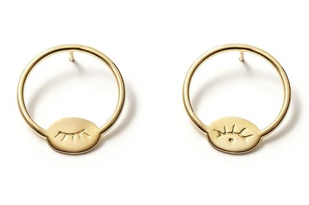 Nina Janvier Houria earrings II - 14k Yellow Gol