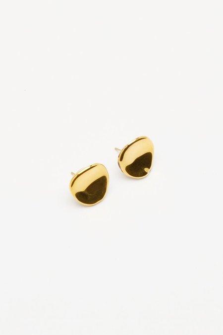 Pedrusco Shell Earrings - 18K Gold Enamel