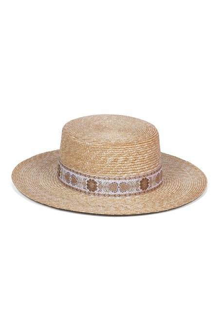 Lack of Color Spencer Boater Special Straw Hat - Wheat