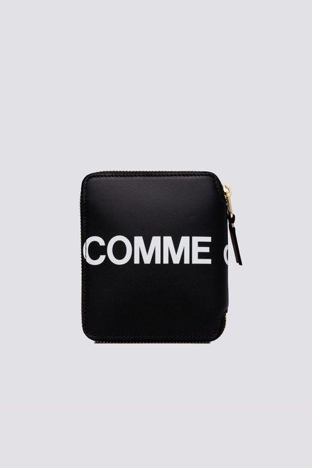 Comme des Garçons Leather Huge Logo SA2100HL Wallet - Black