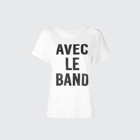 Cinq A Sept With the band tee - White