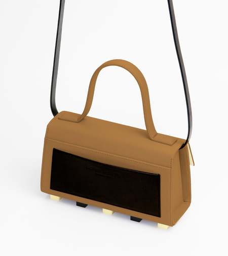 Matter Matters Trapezoid Satchel Bag With Strap - Brown