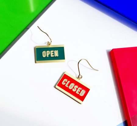 Matter Matters OPEN + CLOSED Reversible Earrings