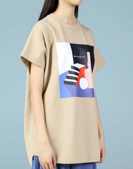 Matter Matters Graphic Huge T-Shirt - Tan