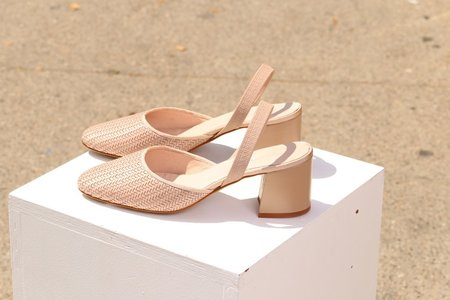 """INTENTIONALLY __________."" Frida Woven Heel - Sable"