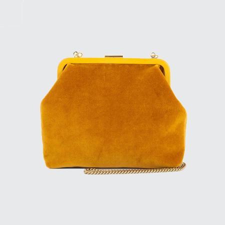 Clare V. Flore Velvet Bag - Goldenrod