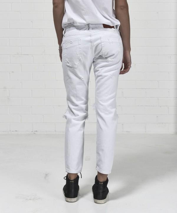 ONE TEASPOON Freebirds Distress Jeans- White Beauty