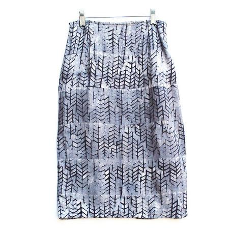 Della Black Tread Pencil Skirt