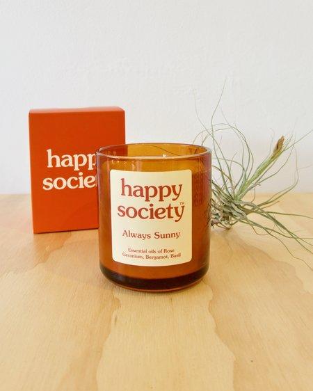 Happy Society Always Sunny Candle - Large