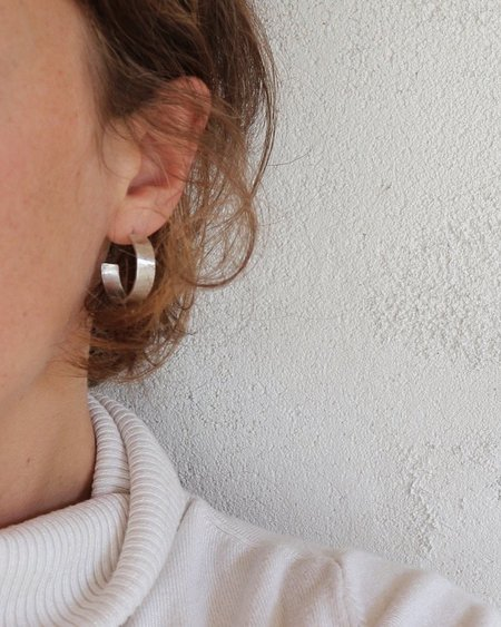 Argent Silversmith Mini Hammered Hoops
