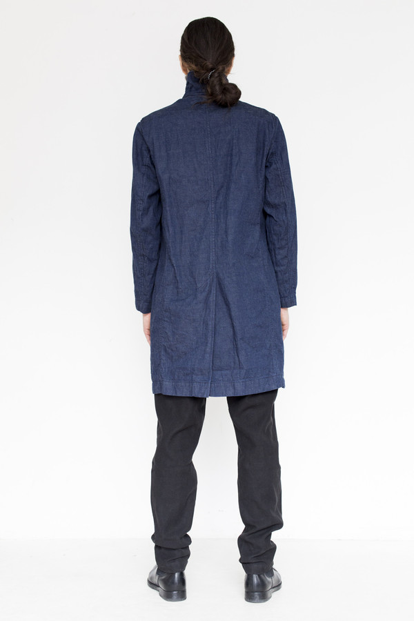 Men's Document Cotton Tailored Denim Coat