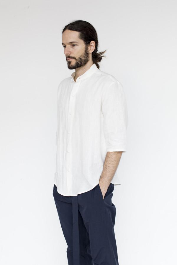 Men's Assembly New York Linen Noncollar Shirt