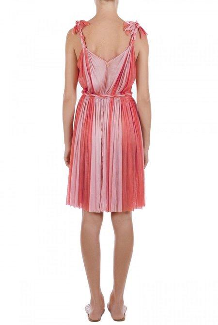 Elena Makri Daphne pleated silk-tulle mini dress - coral/pink