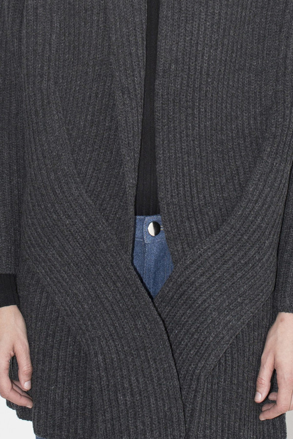 Sayaka Davis Charcoal Cable Cardigan