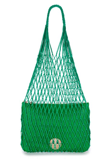 Hill & Friends String Shopper with Happy Pouch - Green