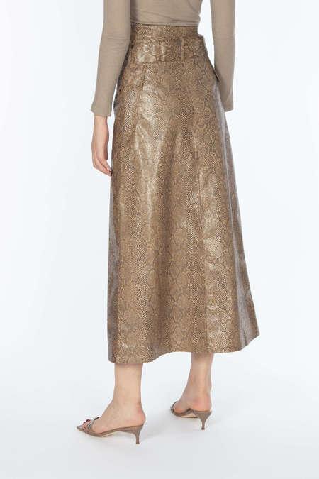 Nanushka A-Line Pocket Skirt - Brown