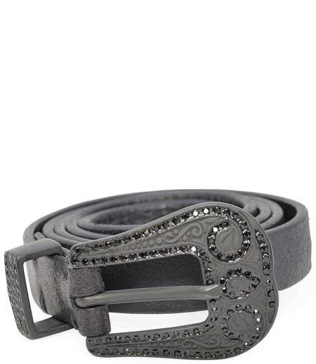 RICCARDO FORCONI 3858 LEATHER BELT - BLACK