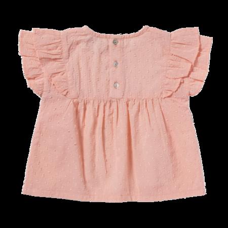kids bonheur du jour chuppa blouse - coral pink