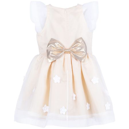 KIDS hucklebones flutter sleeve bodice dress - primrose