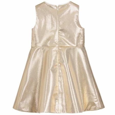 KIDS hucklebones metallic bodice dress - GOLD