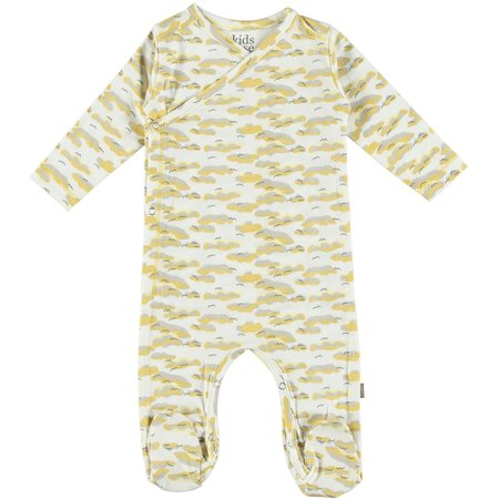 Kids Kidscase Philly Organic NB Footed Suit - Yellow Print