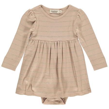 Kids Marmar Copenhagen Ramona Baby Dress - Terracotta Sand Gold
