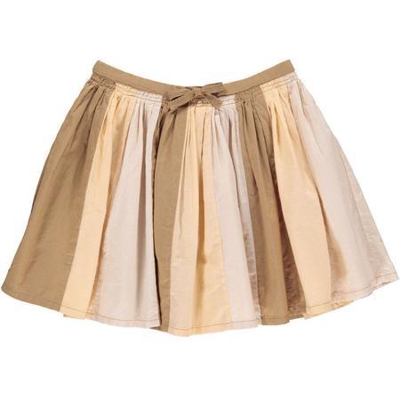 Kids Marmar Copenhagen Sille Skirt - Caramel Stripe