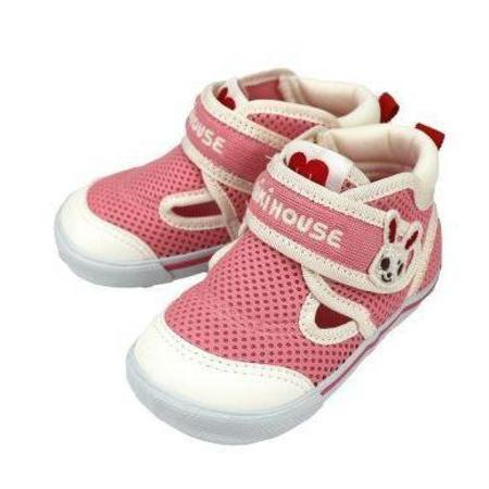 Kids Miki House Double Russell Mesh Shoes - Pink