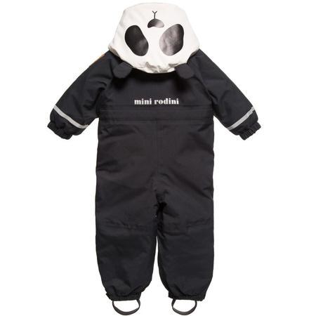 Kids Mini Rodini Alaska Banda Baby Overall - Black