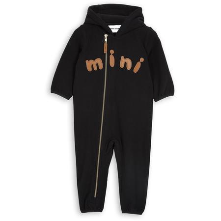 Kids Mini Rodini Fleece Onesie - Black