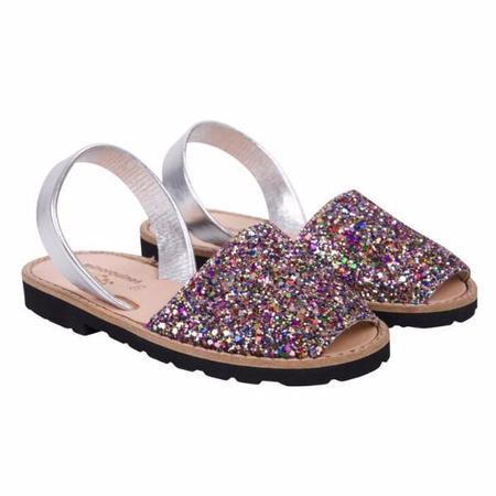 Minorquines Glitter Sunny Roses Sandals