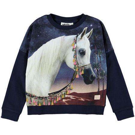 Kids Molo Marigold Sweatshirt - Arabian Horse