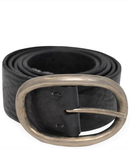 RICCARDO FORCONI M/4129 LEATHER BELT - BLACK