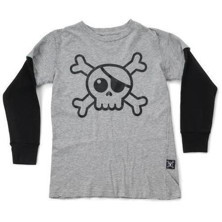 KIDS nununu skull t-shirt - heather grey