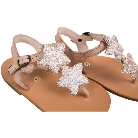 Kids pèpè star sandals - metallic white
