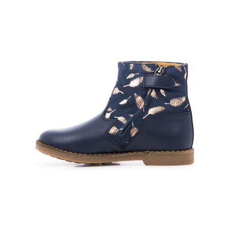 kids pom d'api trip feather boots - navy