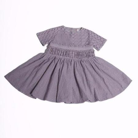 Kids Tia Cibani Asymmetrical Patchwork Dress - Beet