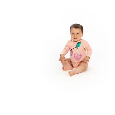 Kids Wauw Capow By Bangbang Copenhagen Berry Onesie - Light Pink