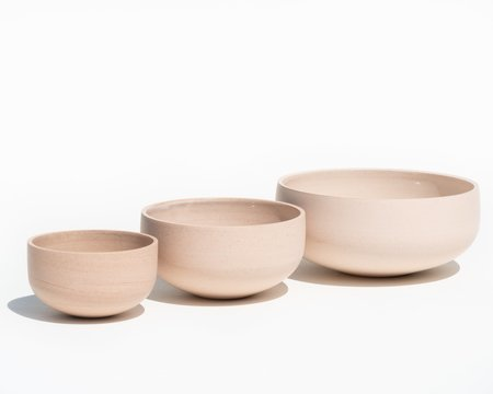 Luke Eastop Trio of Porcelain Bowls - Blush