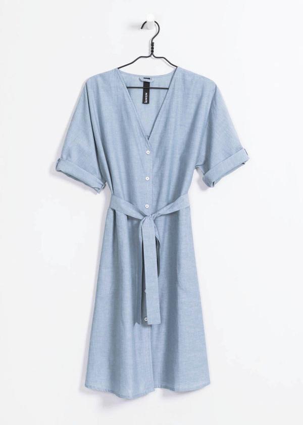 Kowtow Domus Shirt Dress in Chambray