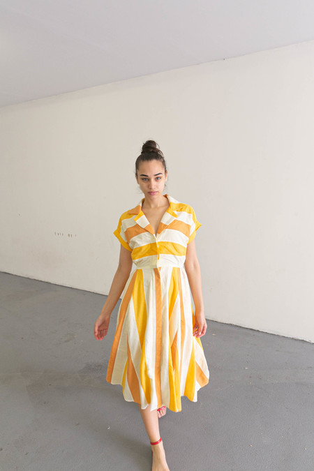 NIKKI CHASIN RALLY DRESS - TANGERINE MULTI