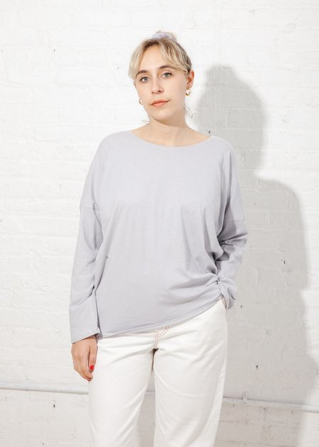 Kowtow Building Block Relaxed Long Sleeve Top - Cloud