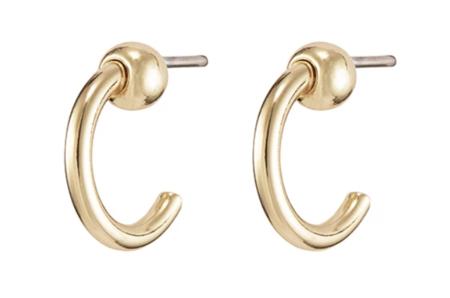 homme femme icon mini hoop - 14K gold/Brass