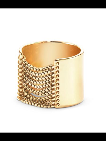 Jenny Bird chloe ring - gold