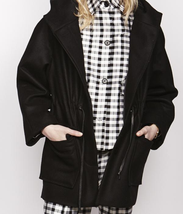 Nikki Chasin Wool Anorak Hooded Coat