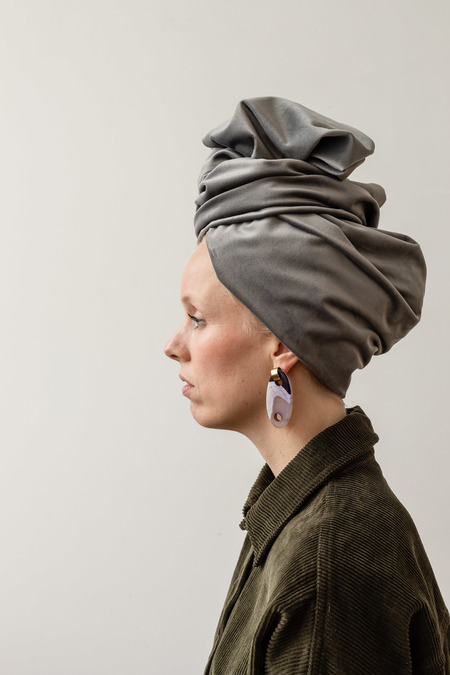 ADORN PLAC EARRINGS - BRONZE/JASPER