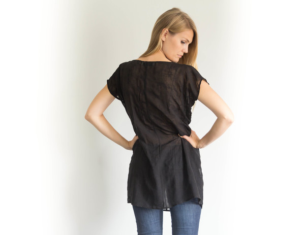 Devlyn van Loon Sheer Silk Blend Tunic