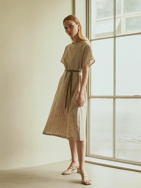 ANGELO BIANCO Line Belt Dress