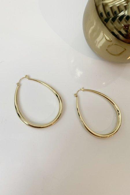 Christina Nicole Jewelry & Home Teardrop Hoops - Brass