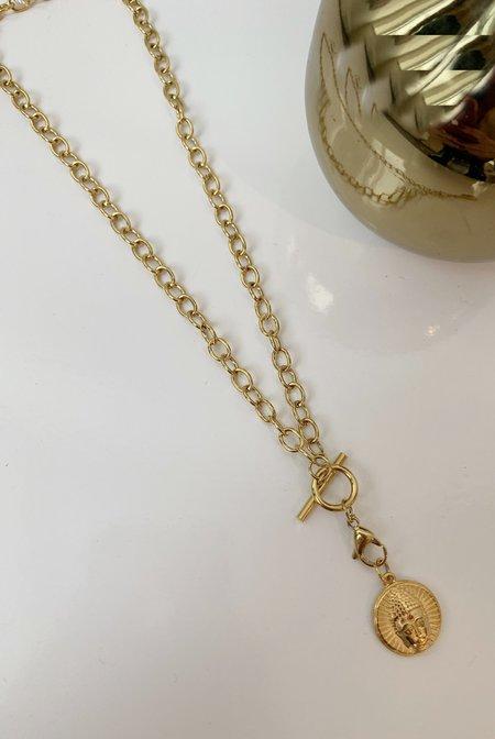 Ellie Vail Jewelry Whitney Buddha Necklace - 18K Gold